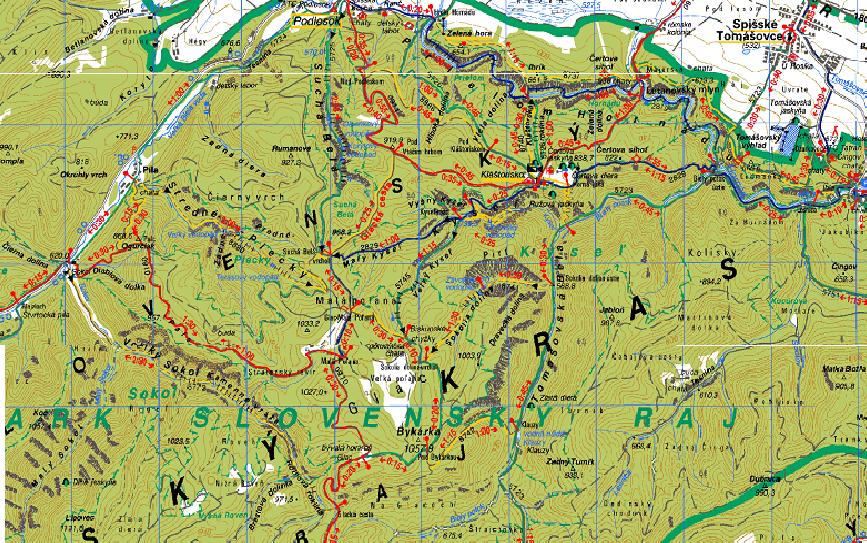 szlovák paradicsom térkép Tavaszi kalandtúra a Szlovák Paradicsomban szlovák paradicsom térkép